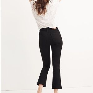 Madewell Cali Demi-Boot Jeans in Black Frost